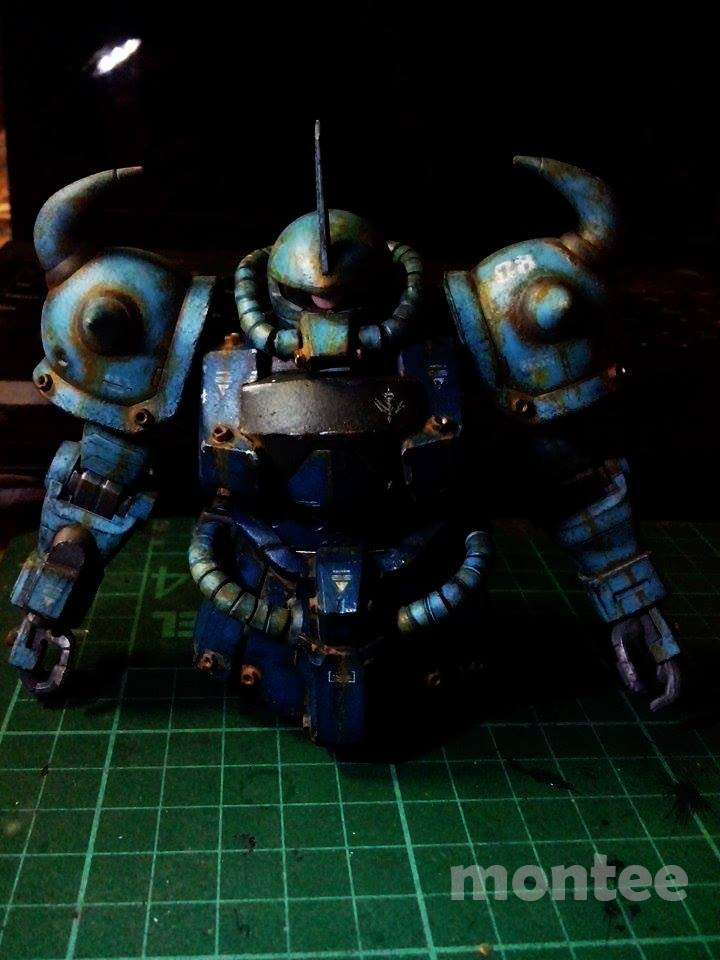 Weathering Tutorial Using Poster Paints for GUNPLA by Montee