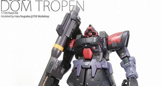 MG 1/100 MS – 09F DOM TROPEN Custom Painted by Hary Nugraha of 703 Workshop